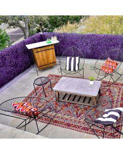 "Real Scene Effect of Windscreen4less Artificial Faux Ivy Leaf Decorative Fence Screen 20"" x 20"" Purple Peanut Leaves 12pcs"