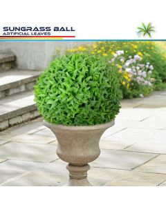 Real Scene Effect of 18 Inch Artificial Topiary Ball Faux Boxwood Plant for Indoor/Outdoor Garden Wedding Decor Home Decoration, Sungrass Green 2 Pieces