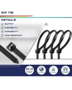 "Real Scene Effect of Windscreen4less 80pcs Black 8"" Heavy Duty Zip Ties,Nylon Cable Ties"